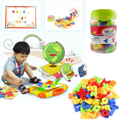 78PCS Magnetic Numbers Letters Alphabet Learning Toy Fridge Magnets Xmas gift PP
