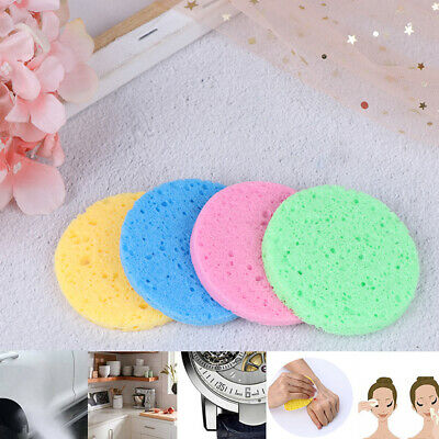 5X Soft Puff Natural Wood Fiber Face Wash Cleansing Sponge Beauty Makeup Pads