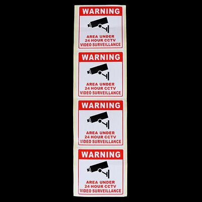 CCTV Video Surveillance Security Camera Alarm Video Sticker Warning Decal