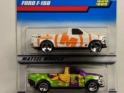Hot Wheels *2 FORD F-150 PICK UPS* 1998 Marcus Construction #865~1999 CNG #908