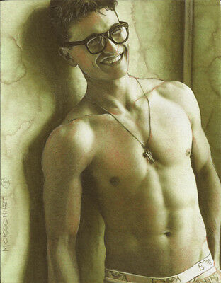 PRINT Artwork Drawing Painting Male Gay Interest MCicconneT ~ GEEKY