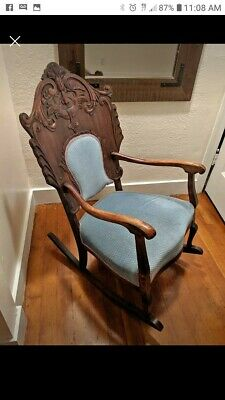 Spectacular Northwind Face Victorian Rocking Chair