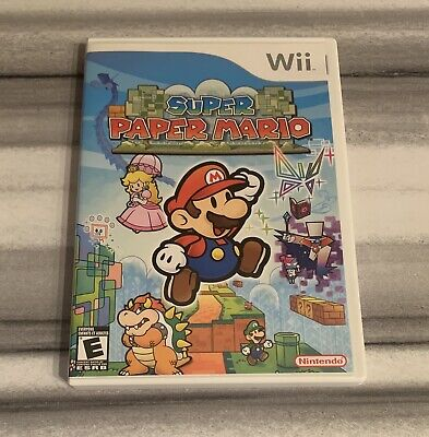 SHIPS SAME DAY Super Paper Mario (Nintendo Wii, 2007) Complete Tested & Working