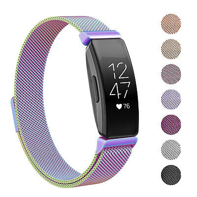For Fitbit Inspire / HR Stainless Steel Metal Loop Watch Band Magnetic Strap UK