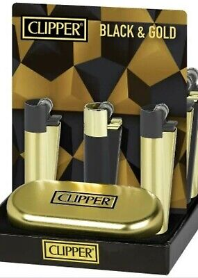 CLIPPER large GOLD & BLACK Metal nuovo