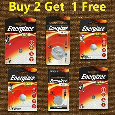 Energizer CR1216 CR2032 CR2025 3V Lithium Coin Cell Battery Longest Expiry