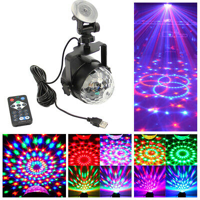 3W LED RGB Stage Light Disco Ball Remote Control USB Power Home Car Party Lamp