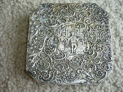 Very Nice Antique Repousse Silverplate Trivet/ Barbour S.p. Co./ C 1900