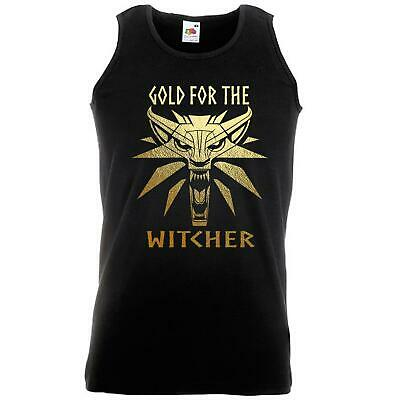 Unisex Black Gold for the Witcher Vest Geralt 3 Fan Art CDPR Projekt
