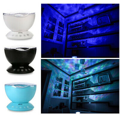 Ocean Wave Music LED Night Light Projector Sleep Lamp Baby Gift + Remote Control