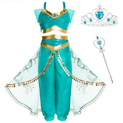 Toddler Baby Kids Girls Strap Tops Tulle Tassel Pants Outfits Party Cosplay Set