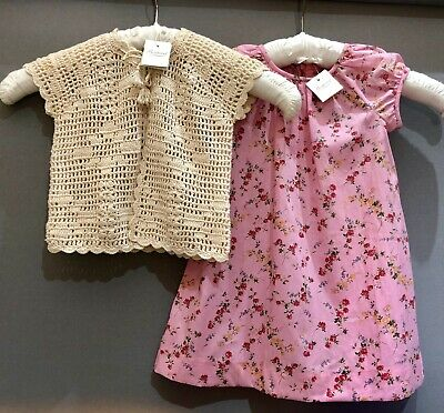 Bonpoint Dress & Hand Crochet Cardigan RRP £210 Age: 2 BNWT