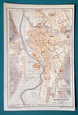 GERMANY Konstanz City Town Plan Good for Genealogy Research - 1910 MAP Baedeker