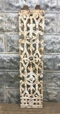Antique Cast Iron Fence Panel Grate, Window Guard Panel Architectural Salvage i