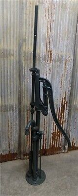 Well Water Pump, Cast Iron Cistern, Windmill Pitcher Pump, Vintage Quincy eo