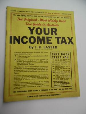1943 YOUR INCOME TAX by J.K. Lasser CPA 1942 Tax Year Preparation Guide Vintage