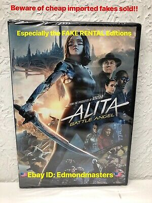 Alita: Battle Angel 2019 DVD 100% AUTHENTIC (BEWARE OF CHEAP FAKES SOLD)
