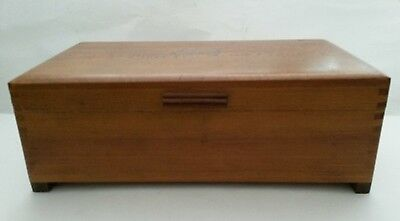 Art Deco Wood Chest Box Small Footed Jewelry Trinket Chest Dog Decor