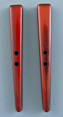 Long Tapered Red Toggle For Sewing And Knitting - Set Of 2