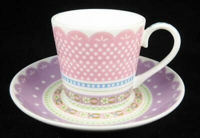 Maxwell & Williams Cashmere Pink/Purple 'Chantilly Lace' Demitasse Cup & Saucer