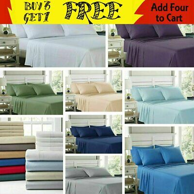 Egyptian Comfort 2100 Count 6 Piece Bed Sheet Set Deep Pocket All Size/color
