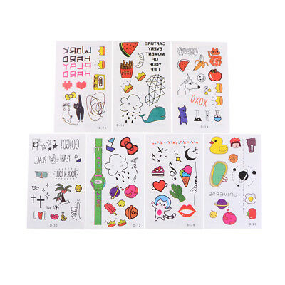 5Sheets Kids Safety Cute Waterproof Temporary Removable Tattoo Sticker BodySC