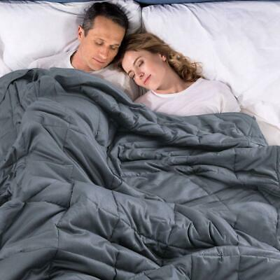 """Weighted Blanket with Removable Duvet Cover for Adults 15lbs 20lbs 60x80"""" 48x72"""""""
