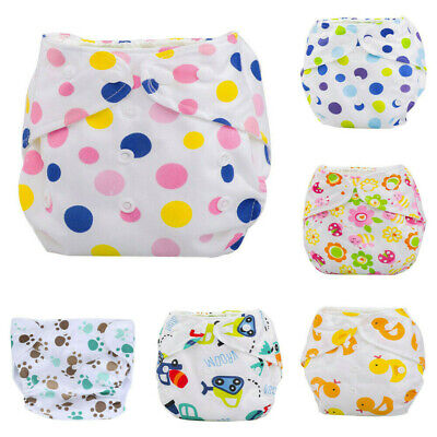 Newborn Infant Baby Summer Cloth Diaper Cover Adjustable Reusable Washable Nappy