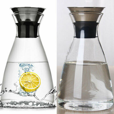 8f5521f6e019 BPA FREE CLEAR Plastic Carafe Serving Jug With Lid - £4.69 | PicClick UK