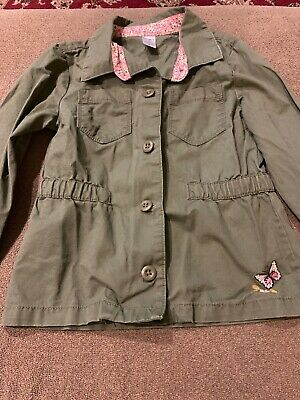 Carters Toddler Girls Utility Jacket With Butterflies Olive Green Size 5 (AH)