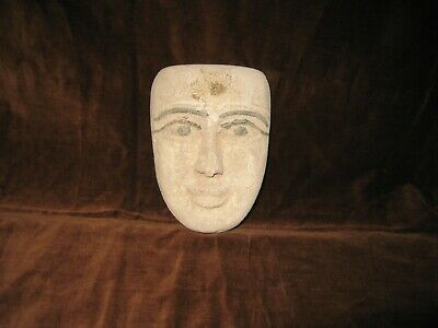 """Egyptian Authentic Mask 5"""" x 4"""" private collection"""