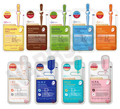"[MEDIHEAL] ""2019 NEW"" REX Ampolue Sheet Mask (7 types) - 1,5,10Pcs"