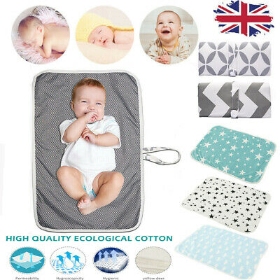 Newborn Baby Portable Foldable Washable Travel Nappy Diaper Play Changing Mat.