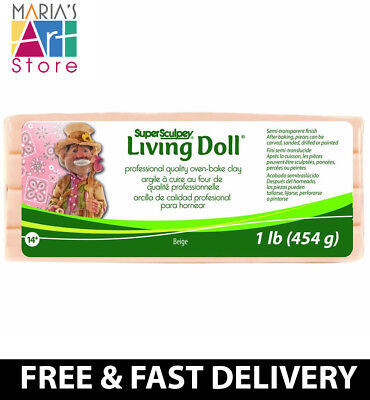 Fresh Stock Super Sculpey Living Doll Beige 1Lb 454G Polyform Fimo