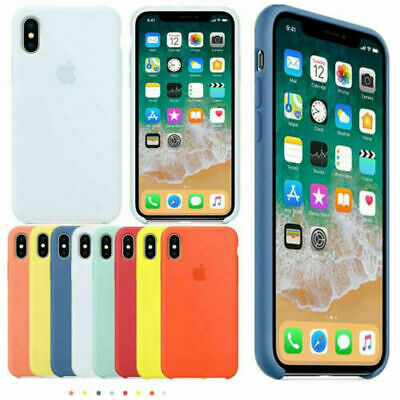 Original Coque Etui Silicone Pour Apple iPhone X XR XS MAX 8 7 6 Plus Caoutchouc