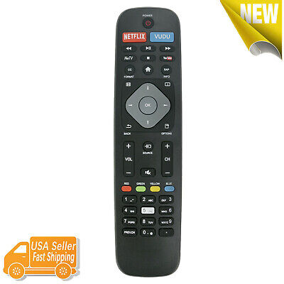 NEW SMART TV Remote Control for Philips with Netflix Vudu