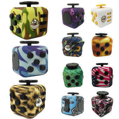 Kids Adults Fidget Cube Desk Toy Anxiety Anti Stress Reliever Relief ADHD Toys