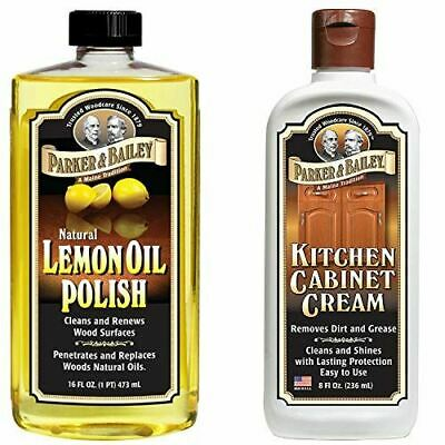 Parker and Bailey Natural Lemon Oil Polish Bundled with Kitchen Cabinet Cream