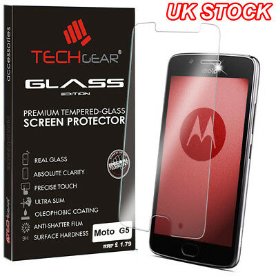 Genuine TEMPERED GLASS Invisible Screen Protector Cover for Motorola Moto G5
