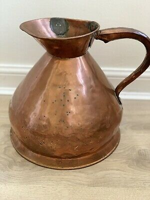 Antique English 2 Gallon Copper Haystack Ale Water Measure Jug