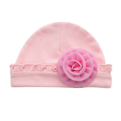 Cute Newborn Baby Infant Girl Toddler Comfy Bowknot Hospital Cap Tiny Beanie Hat