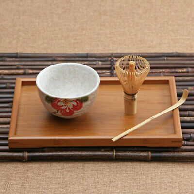 Natural Bamboo Matcha Green Tea Powder plus optional Whisk, Scoop, Bowl Set Gift