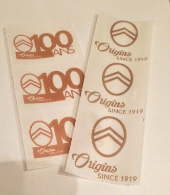 Lot de 6 Stickers Autocollants - 100 ans CITROEN