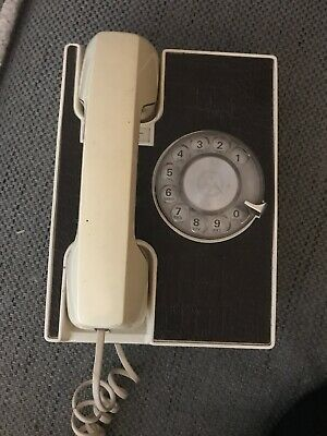 Vintage Western Electric Brown Rotary Dial Phone W/ Faux Crocodile Leather Front