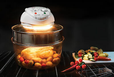 Professional 1400W Halogen Oven 12 + 5 L With Protective Basket Multipurpose New