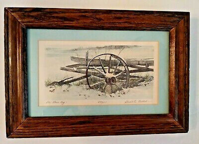 """Lithograph by GERALD LUBECK Signed & Numbered DAY GONE BY 9 1/2"""" x 6 1/2 Vintage"""