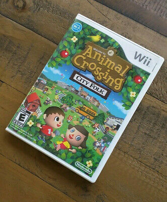 Like New - ANIMAL CROSSING CITY FOLK - Nintendo Wii Game 2008 - Complete in Box