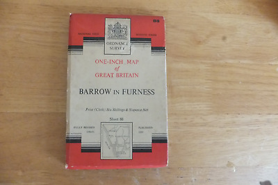 Ordnance Survey Map-One-Inch Of Great Britain-7Th Series-Cloth Editions-Sheet 88