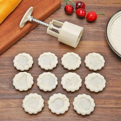 12 Zodiac Stamps Moon Cake Decor Mould Round Mooncake Mold DIY Cookie Bake Tool