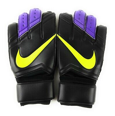 Nike GK Vapor Grip 3 Goalkeeper Gloves Adult Unisex Size 9.5 Soccer Black/Volt